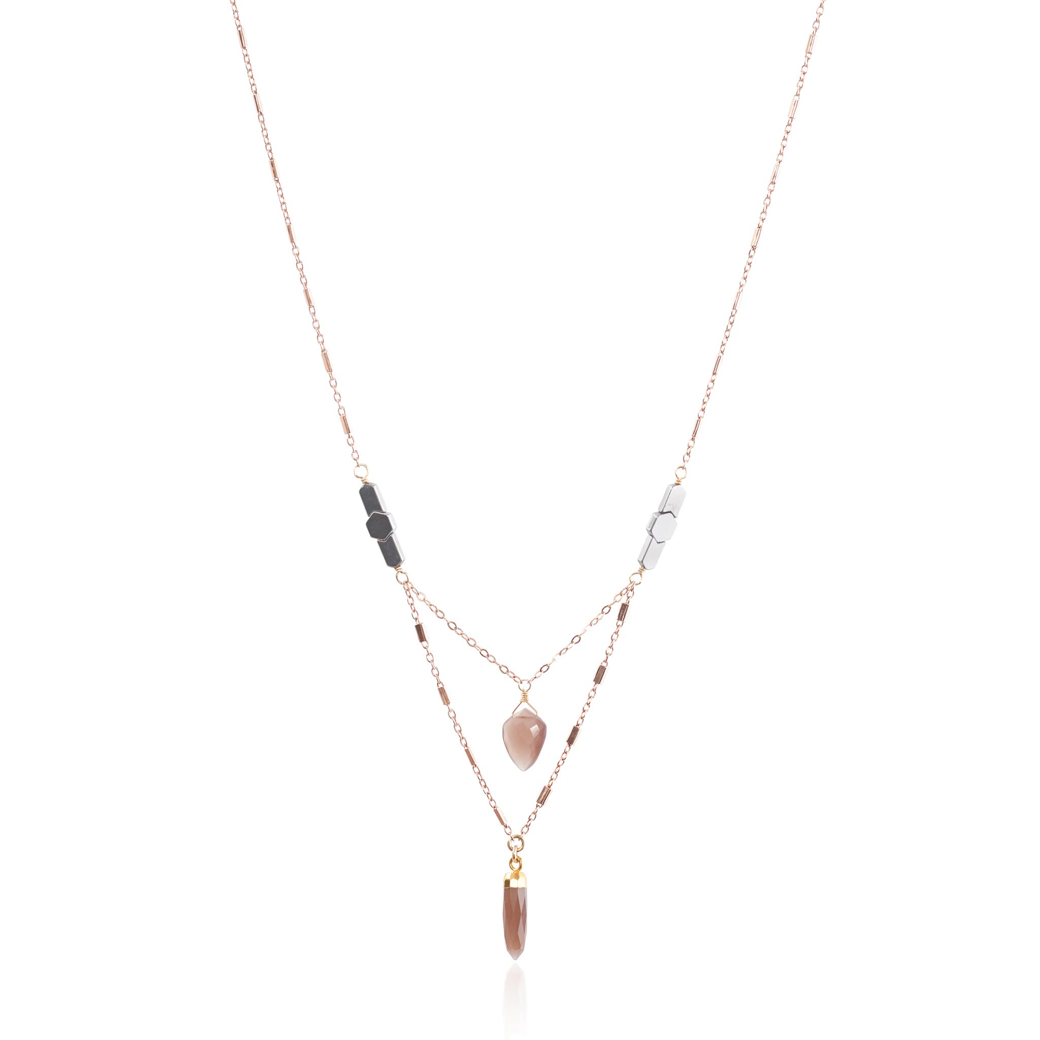 product gold samojauskaite simona necklace back dot en jewellery